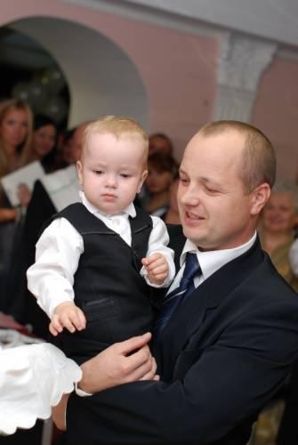 Семья Крупских. Папа и сын